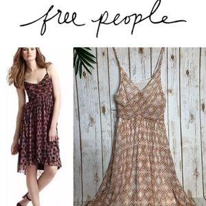 FREE PEOPLE Boho romantic mesh midi dress